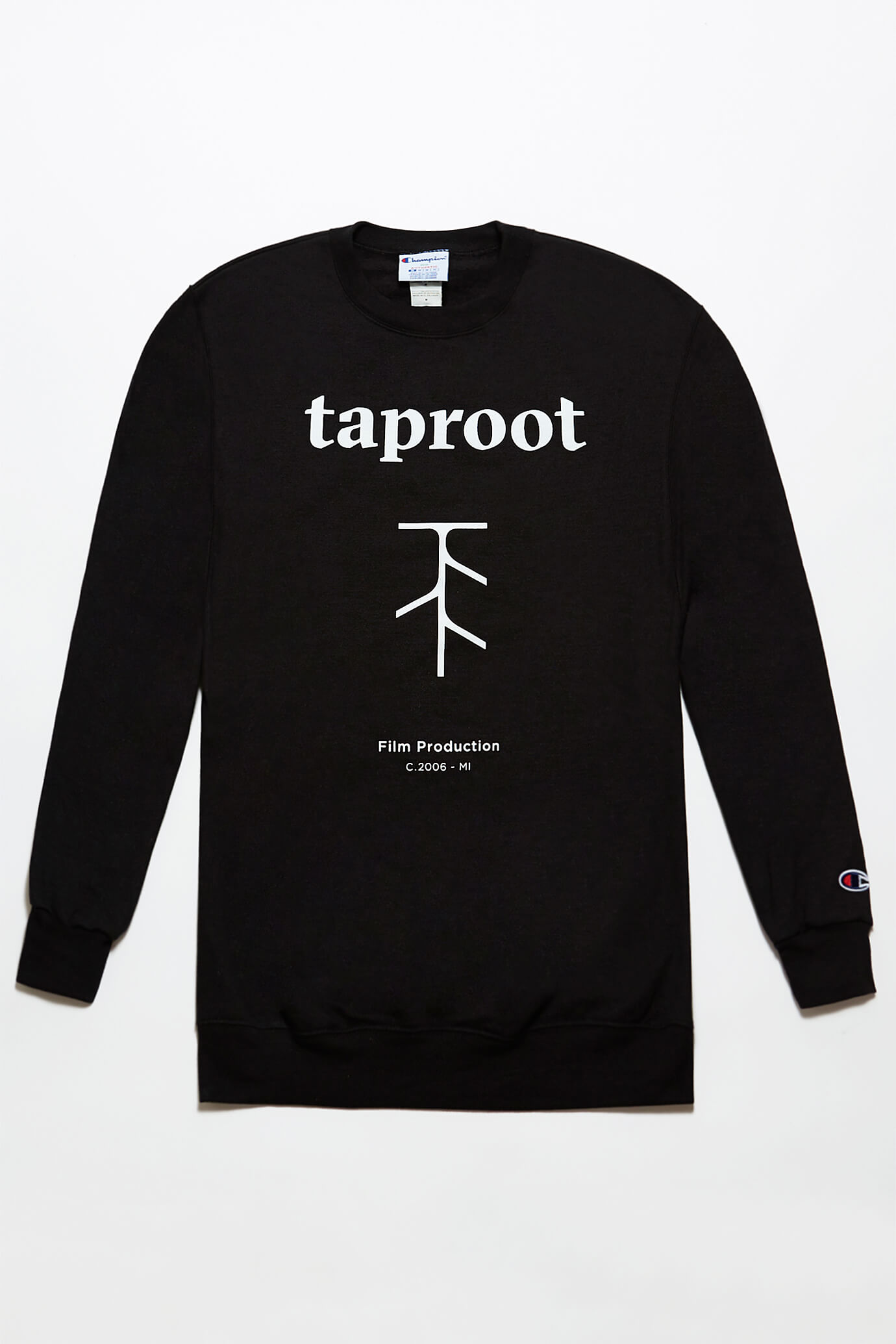 taproot pictures champion crew neck in black